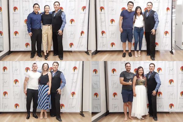 photos with the wedding dance teacher