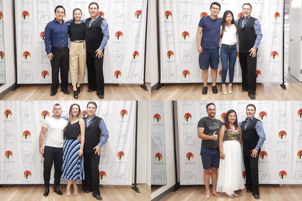 photos with the wedding dance teacher