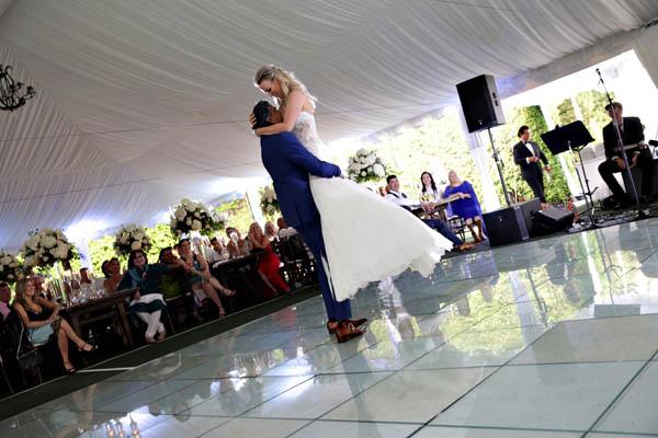presentation of wedding dance routine