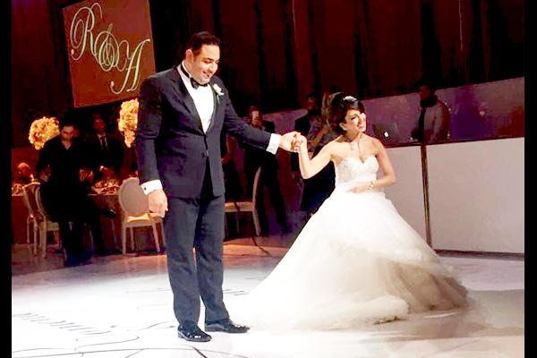 Stylish bridal dance